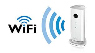 WiFi-fähig, sodass Sie sie an einem beliebigen Ort in Ihrem Zuhause aufstellen können