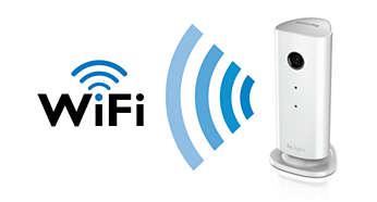 Obsługa sieci Wi-Fi pozwala na umieszczenie monitora w dowolnym miejscu w domu