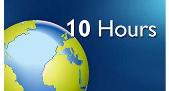 Bucuraţi-vă de până la 10 ore de navigare pe Internet