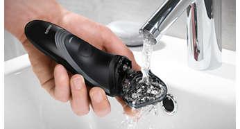 Rinçage facile sous le robinet