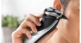Perfect voor het trimmen van bakkebaarden en snor