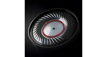 Hochleistungsfähige Neodym-Lautsprecher für originalgetreuen Sound