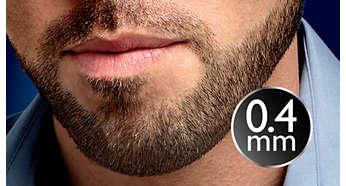 0,4 mm stubbeindstillingen giver dig et 3-dages skæg hver dag