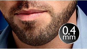 Установка длины 0,4мм для создания эффекта трехдневной щетины