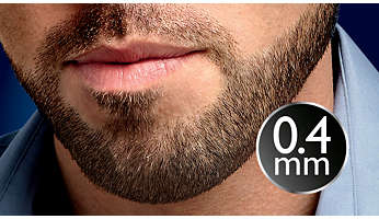 "Set length to 1/64"" (0.4mm) for perfect stubble every day"