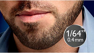 """Set length to 1/64"""" (0.4mm) for perfect stubble every day"""