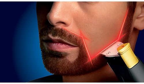 Utilisez le guide laser pour des résultats précis et symétriques