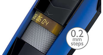 Trim from 0.4mm to 10mm in steps as short as 0.2mm