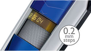 Trimmen Sie von 0,4mm bis 10mm in Abstufungen von nur 0,2mm
