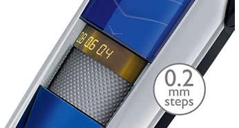 Trimstanden van 0,4mm tot 10 mm in stappen van slechts 0,2mm