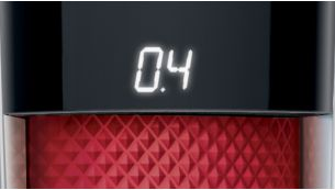 The LED display clearly shows your chosen length setting