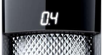 На LED-дисплее отображается выбранная установка длины