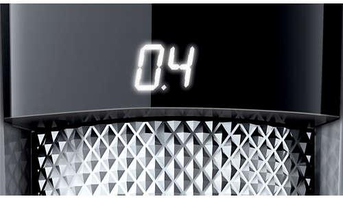 Het LED-display toont duidelijk uw gekozen lengtestand