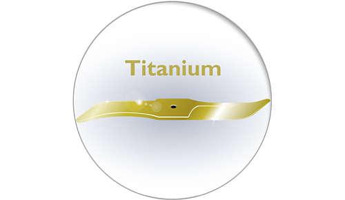 Lames recouvertes de titane: 6fois plus dures que l'acier
