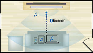 Bluetooth wireless music streaming from your music devices