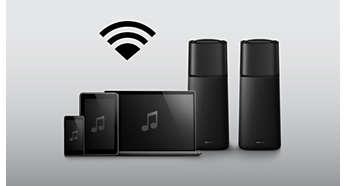 Transmisión inalámbrica de música por Bluetooth desde dispositivos de música