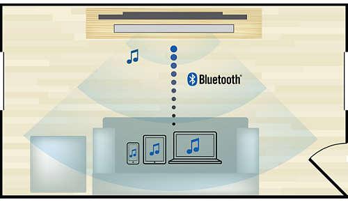 Draadloos muziek van uw muziekapparaten streamen via Bluetooth