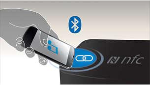 Emparejamiento con Bluetooth con solo un toque en smartphones con NFC