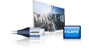 Jeden vstup HDMI pro integrované možnosti připojení