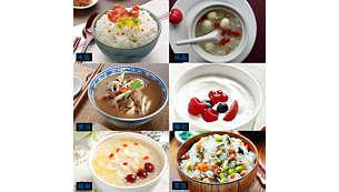 包括:煮饭、煲汤、煮粥、炖品、酸奶和菜饭