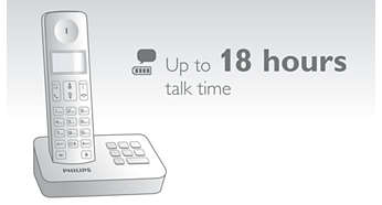 Up to 18 hours of talk time on a single charge