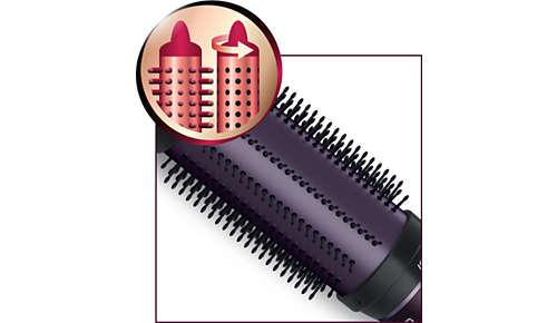 Einziehbare Borsten zum schnellen und einfachen Lösen der Haare