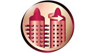 Wysuwane ząbki pozwalające szybko i łatwo zwolnić włosy