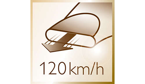 Puhallusnopeus 120km/h, ihanteellinen nopeaan kuivaukseen