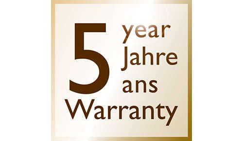 * 2 años de garantía más 3 años, al registrar el producto en línea