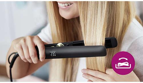 Undgå ødelagt hår med fleksible plader