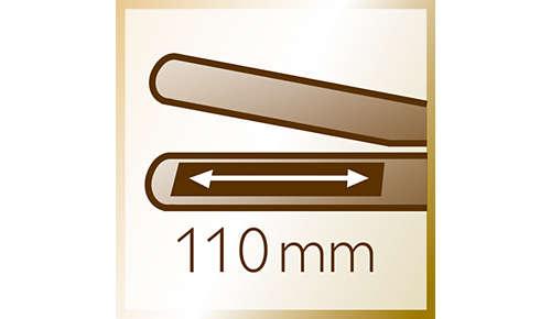 Plaques longues (110mm) pour un lissage rapide et facile