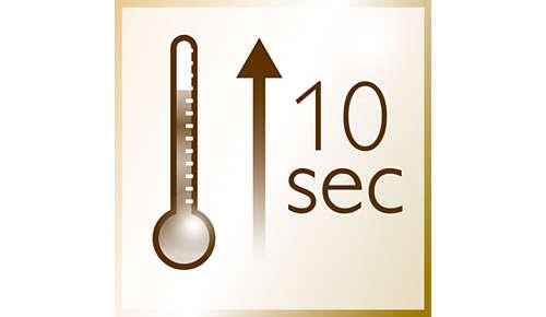 Temps de chauffe instantané d'à peine 10s.