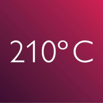 درجة سخونة احترافية وعالية تبلغ 210 درجة مئوية لنتائج رائعة