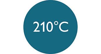 Alta temperatura profesional de 210°C para resultados perfectos