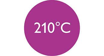 Temperatura profesional (210 °C) para un resultado perfecto