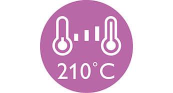Professionele hoge temperatuur van 210 °C voor een perfect resultaat