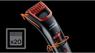 Cut the hair to any length you like with the adjustable comb