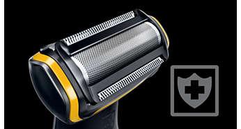Hypo-allergenic shaver helps prevent skin irritation