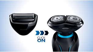 Alege printr-un clic dintre 2 accesorii cu ataşare/detaşare pentru a obţine aspectul dorit