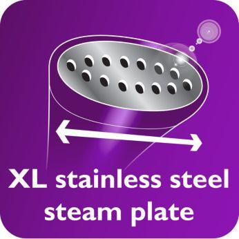 Подошва XL из нержавеющей стали ускоряет процесс отпаривания
