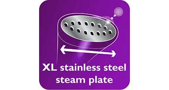 Placa de vapor XL em aço inoxidável para resultados mais rápidos
