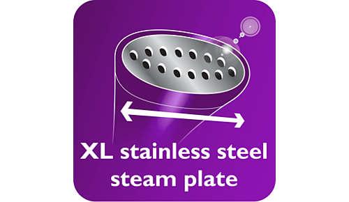 Placa de vapor de acero inoxidable XL para resultados más rápidos