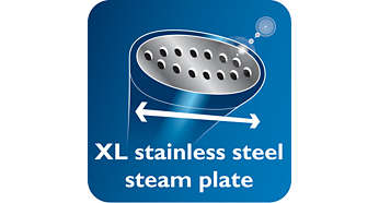 Plaque vapeur XL en acier inoxydable pour des résultats plus rapides