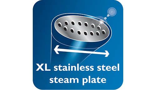 Piastra per vapore in acciaio inox XL per risultati più rapidi