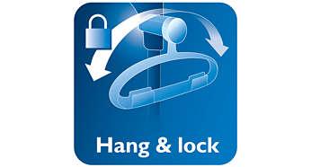 ميزة Hang&Lock الفريدة لمزيد من الثبات أثناء استخدام البخار