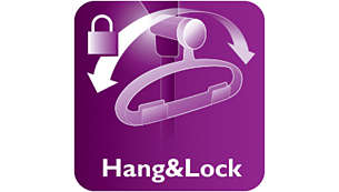 Hang&Lock exclusivo, para mayor estabilidad con el vapor