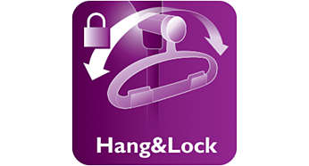 Unique Hang&Lock for stability during steaming