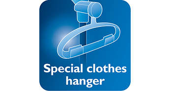 Hanger with hang&lock feature for stability during steaming