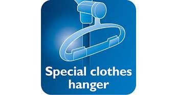 有 hang&lock 功能的掛鉤令燙衣過程更穩定