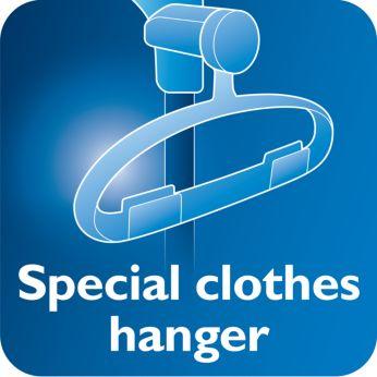 Вешалка с функцией Hang&Lock обеспечивает устойчивость во время отпаривания